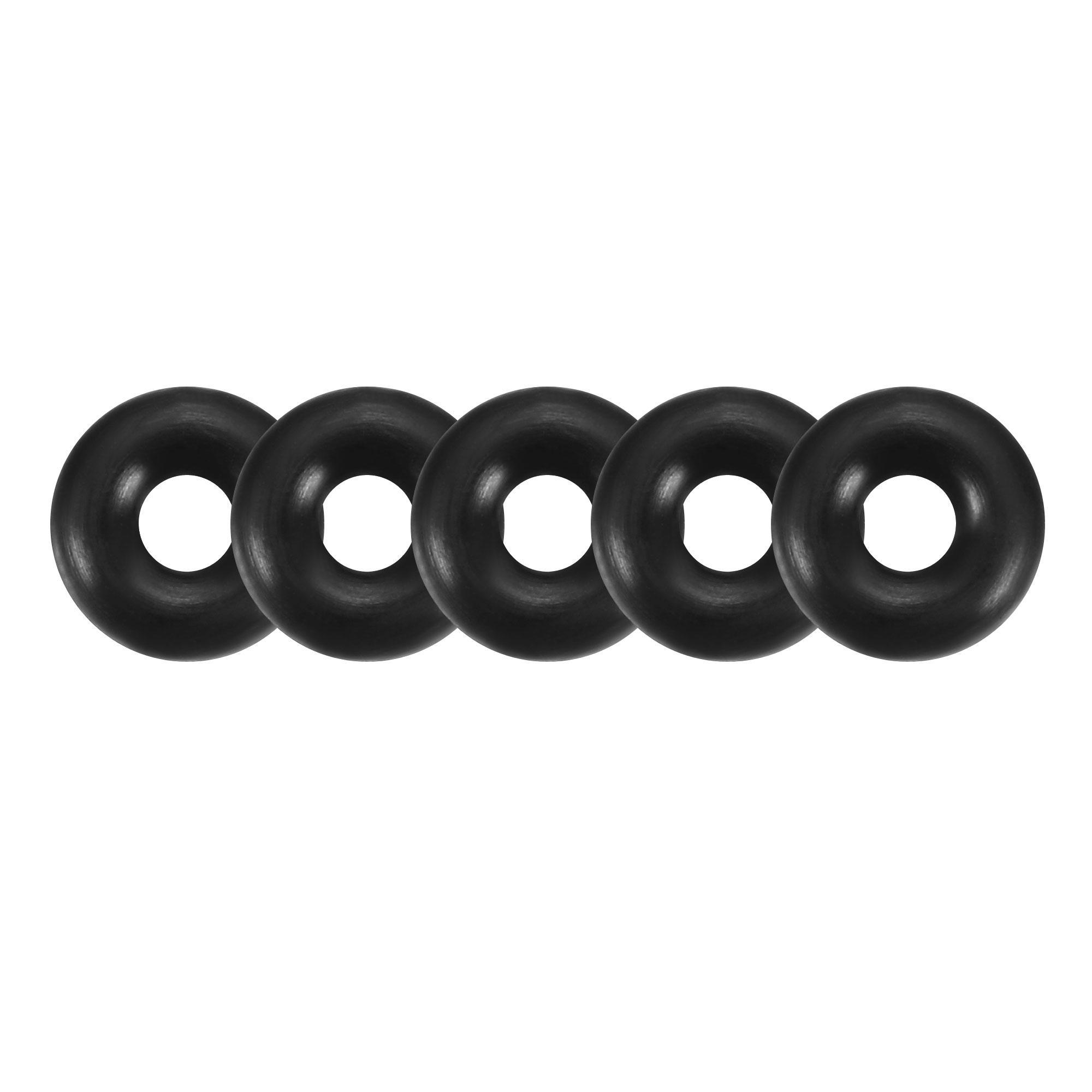 30pcs Black Nitrile Butadiene Rubber NBR O-Ring 2mm Inner Dia 2mm Width