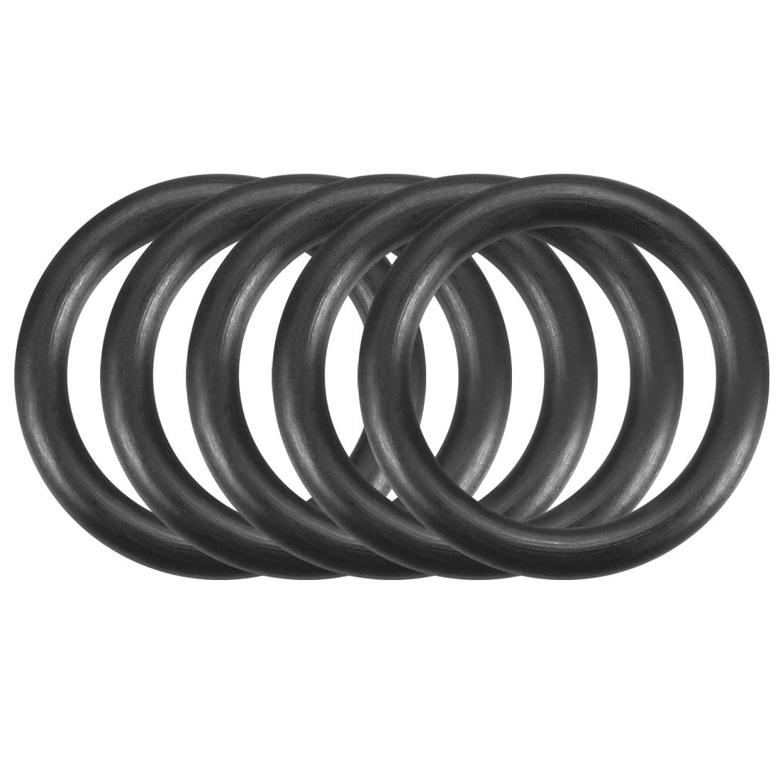50pcs Black Nitrile Butadiene Rubber NBR O-Ring 13.3mm Inner Dia 2.5mm Width