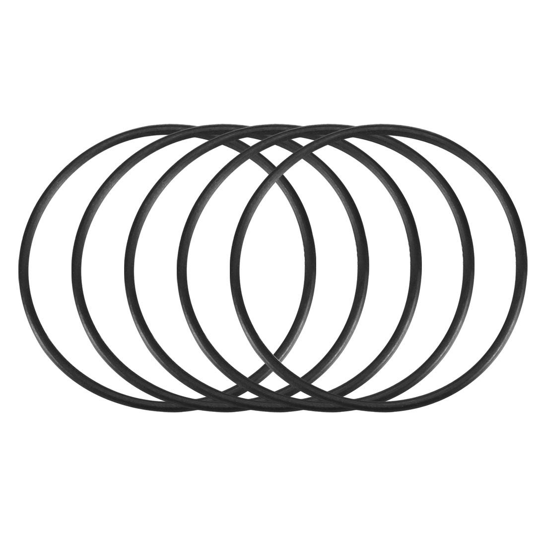 5pcs Black Nitrile Butadiene Rubber NBR O-Ring 23.5mm Inner Dia 1mm Width