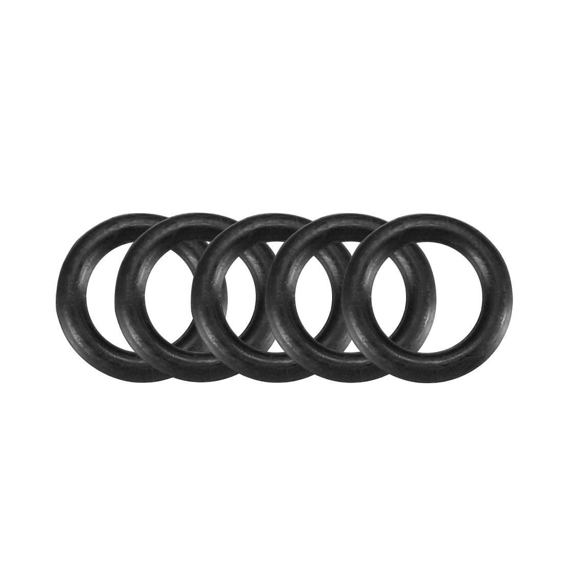 50pcs Black Nitrile Butadiene Rubber NBR O-Ring 4.1mm Inner Dia 1.2mm Width