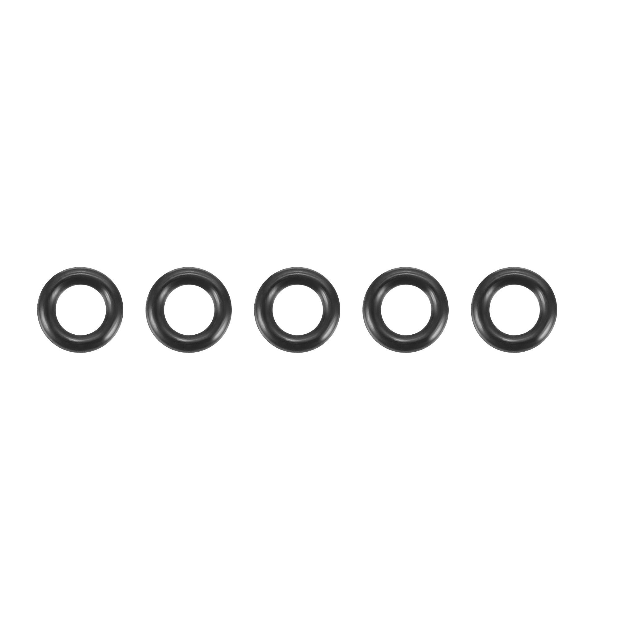 30pcs Black Nitrile Butadiene Rubber NBR O-Ring 1.6mm Inner Dia 0.8mm Width
