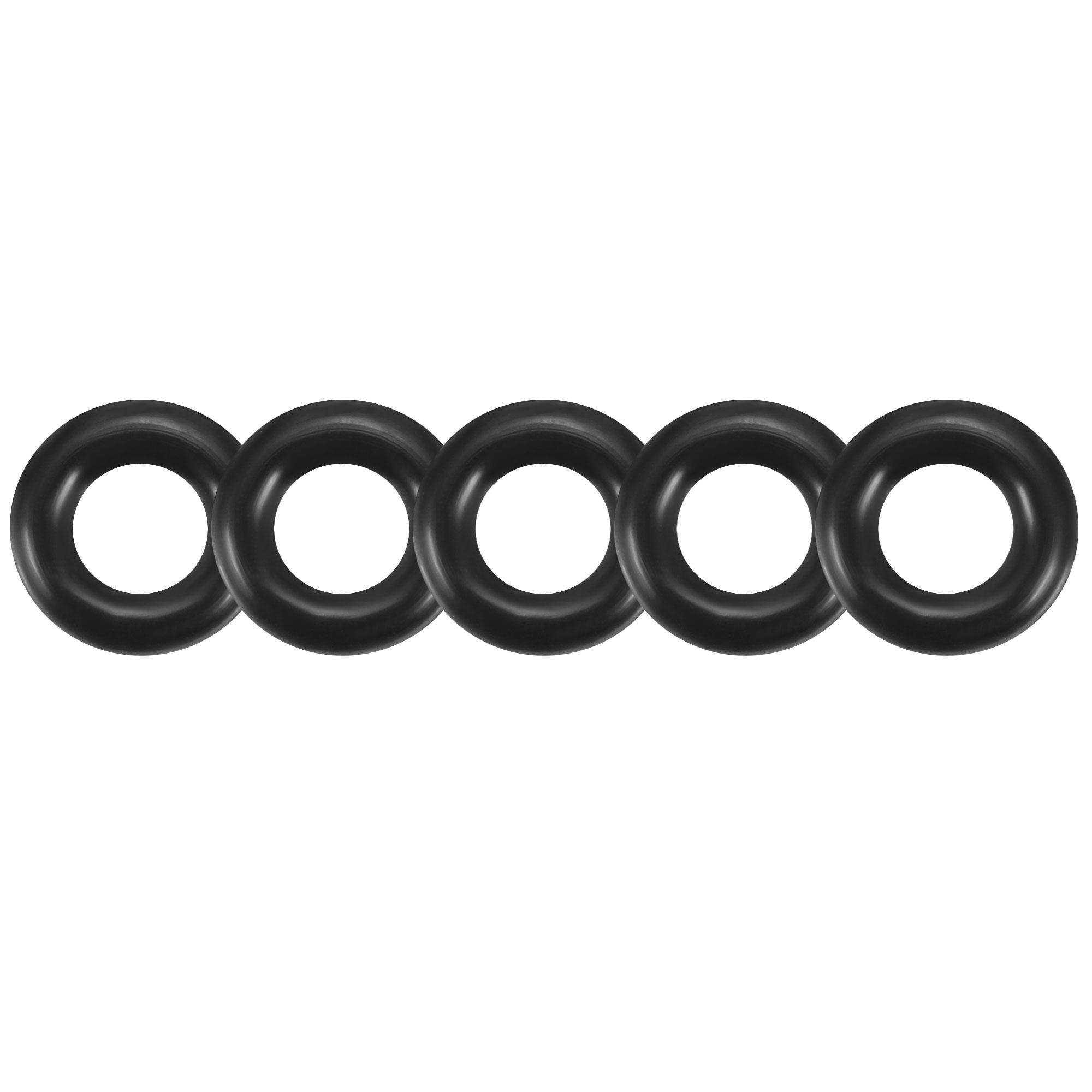 30pcs Black Nitrile Butadiene Rubber NBR O-Ring 3.15mm Inner Dia 1.8mm Width