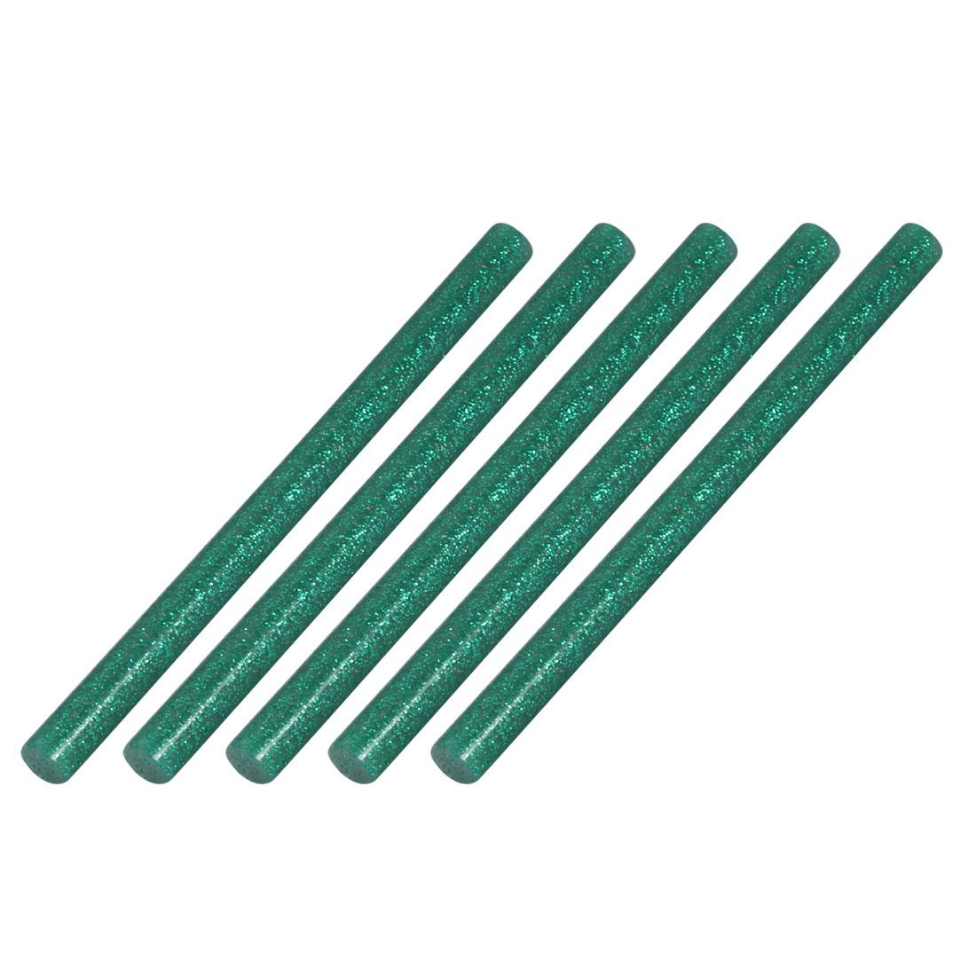5pcs 7mm Dia 100mm Length Hot Melt Glue Adhesive Stick Blackish Green
