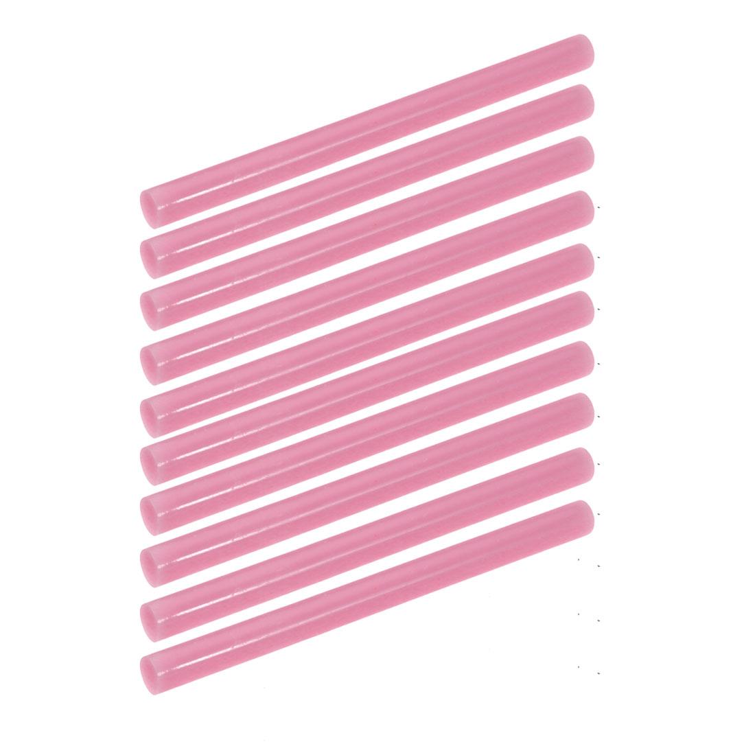 10pcs 7mm Dia 100mm Long Hot Melt Glue Adhesive Stick Light Pink