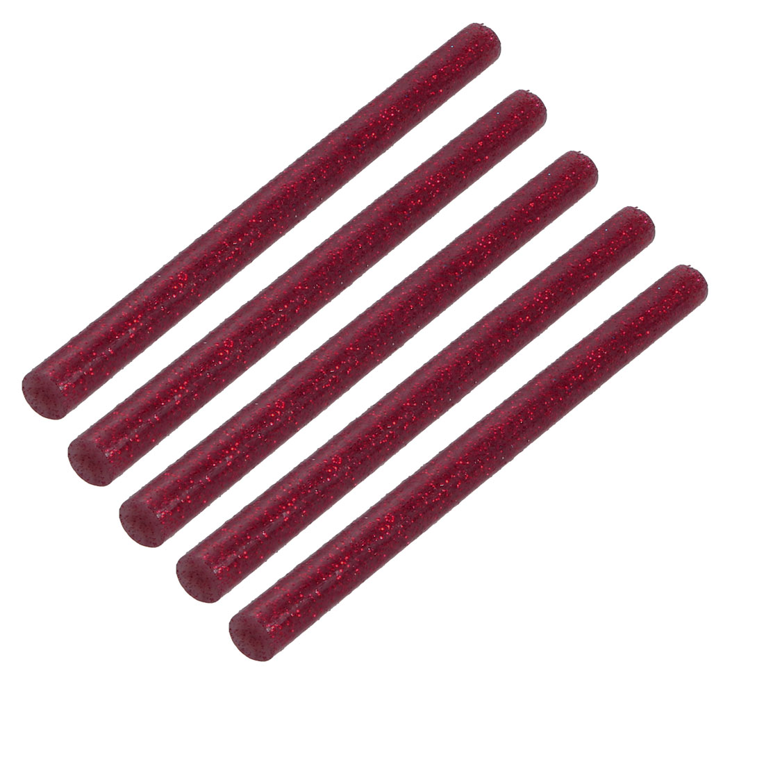 5pcs 7mm Dia. 100mm Long Hot Melt Glue Adhesive Stick Shinning Red