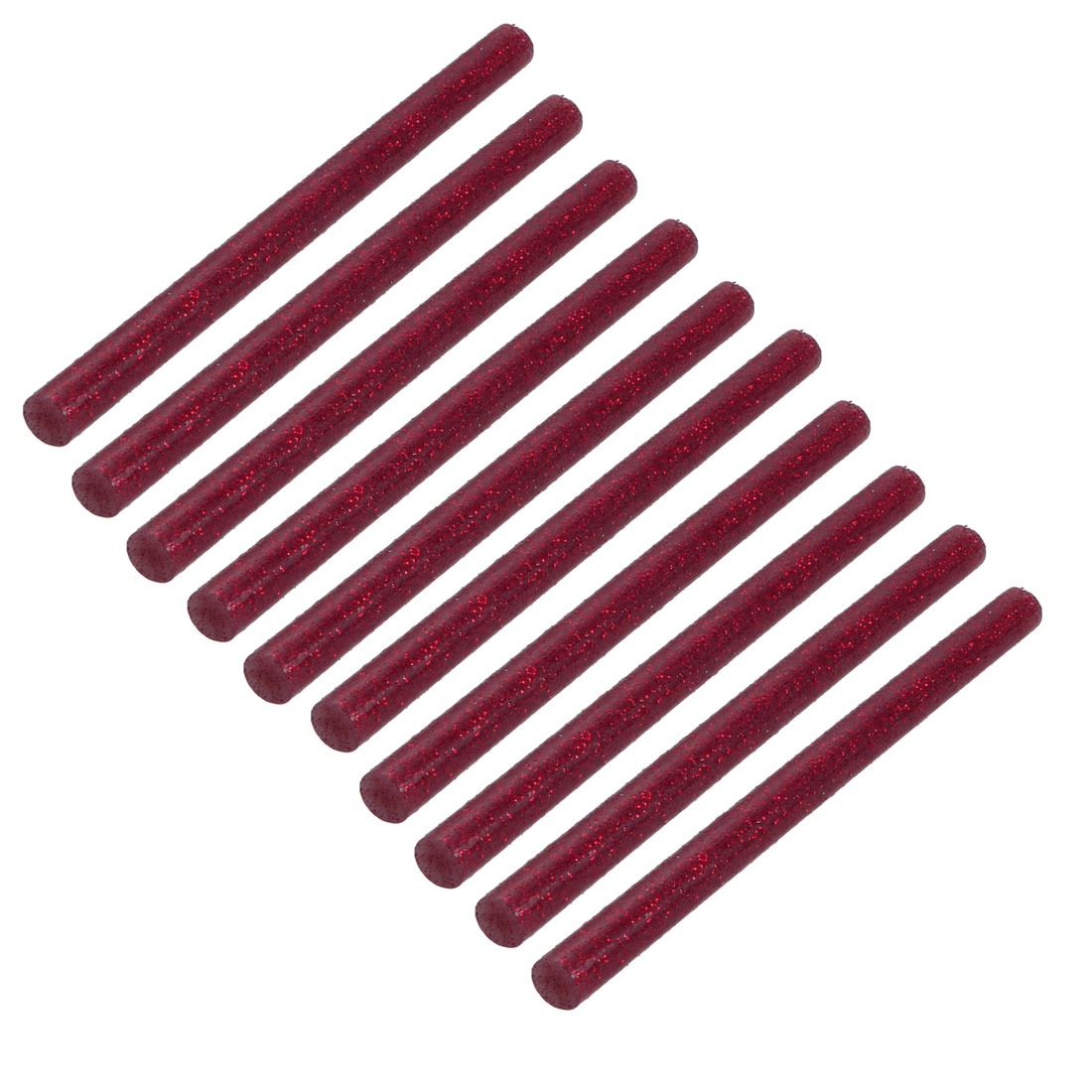 10pcs 7mm Dia 100mm Length Hot Melt Glue Adhesive Stick Shinning Red