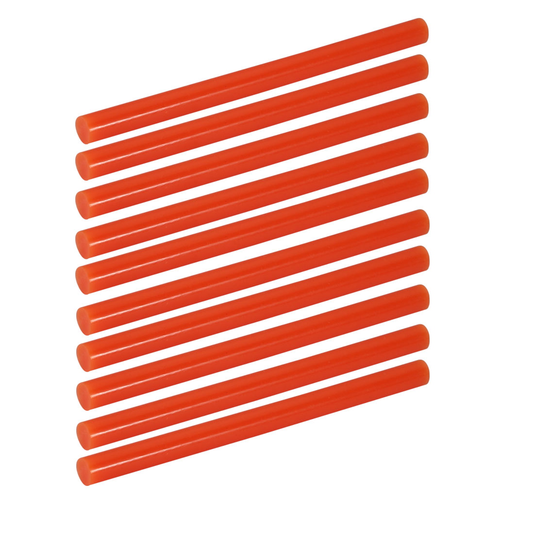 10pcs 7mm Dia 100mm Long Hot Melt Glue Adhesive Stick Orange