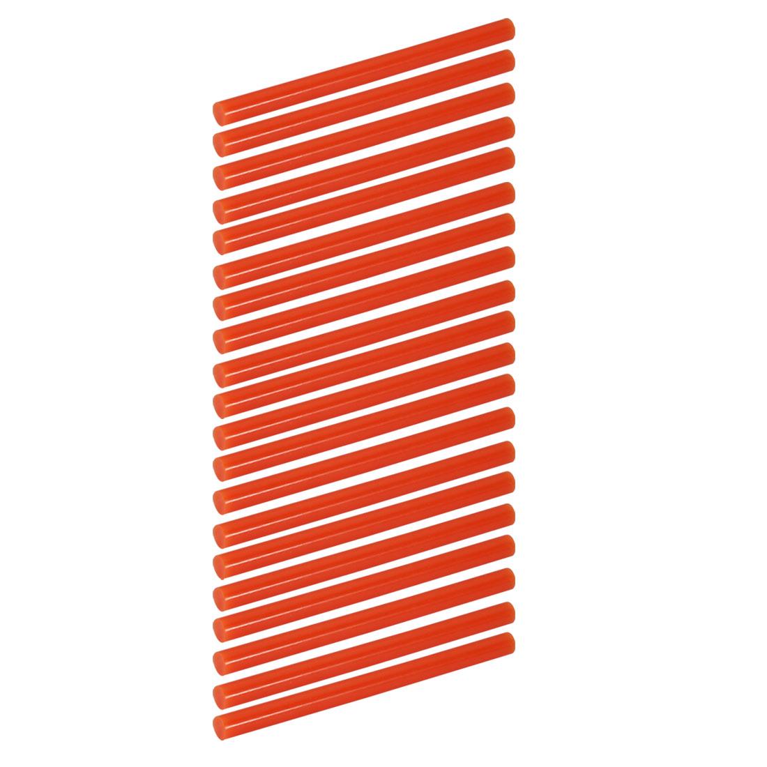 20pcs 7mm Dia 100mm Long Hot Melt Glue Adhesive Stick Orange