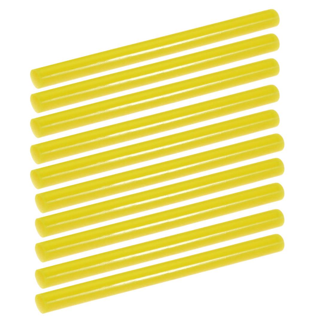10pcs 7mm Dia 100mm Long Hot Melt Glue Adhesive Stick Yellow