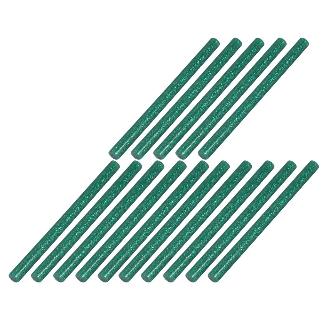 15pcs 7mm Dia 100mm Long Hot Melt Glue Adhesive Stick Blackish Green