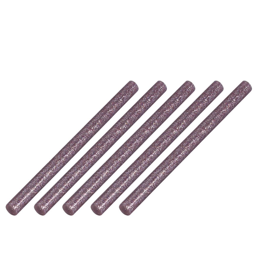 5pcs 7mm Dia 100mm Long Hot Melt Glue Adhesive Stick Light Purple