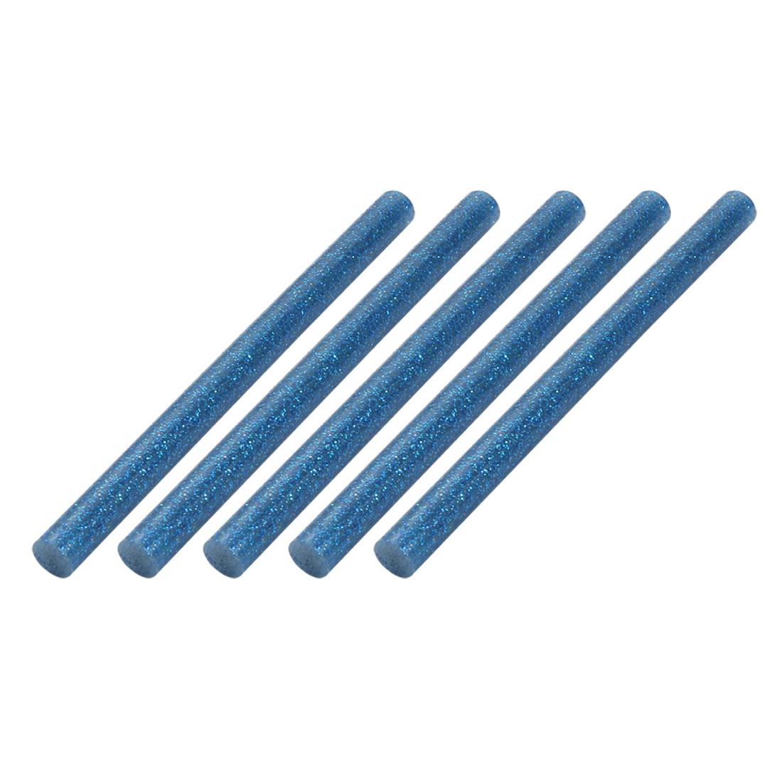 5pcs 7mm Dia 100mm Long Hot Melt Glue Adhesive Stick Blue for DIY Craft Project