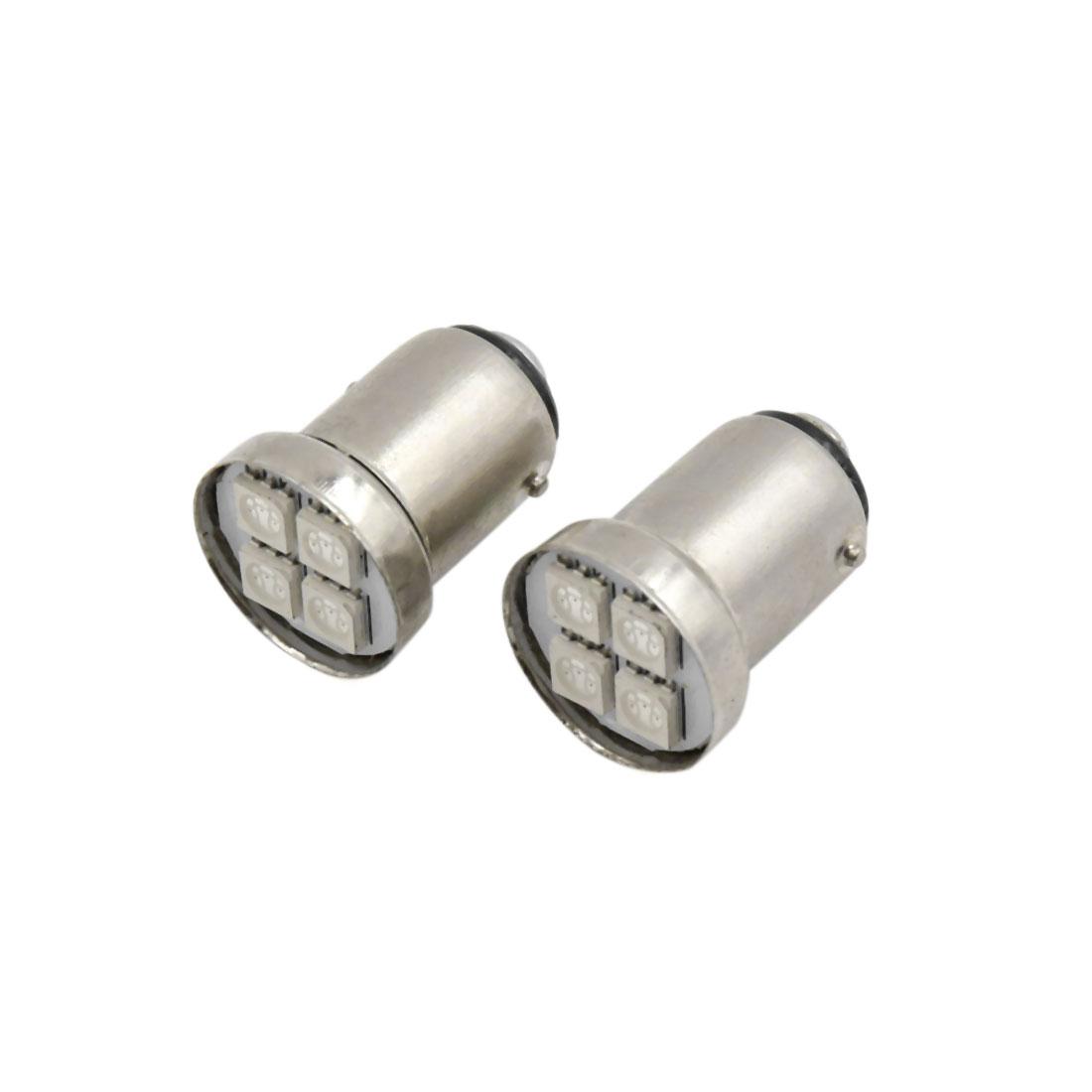 2Pcs 1157 BAY15d Red 4-5050-SMD LED Car Tail Brake Backup Reverse Light Bulb