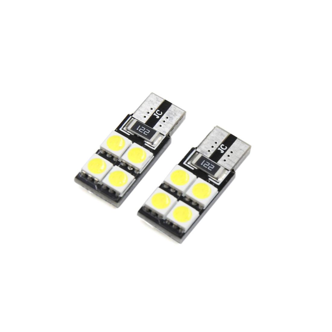 2Pcs T10 4W 4-5050-SMD White LED Car Panel Light Lamp Interior W5W 194 168