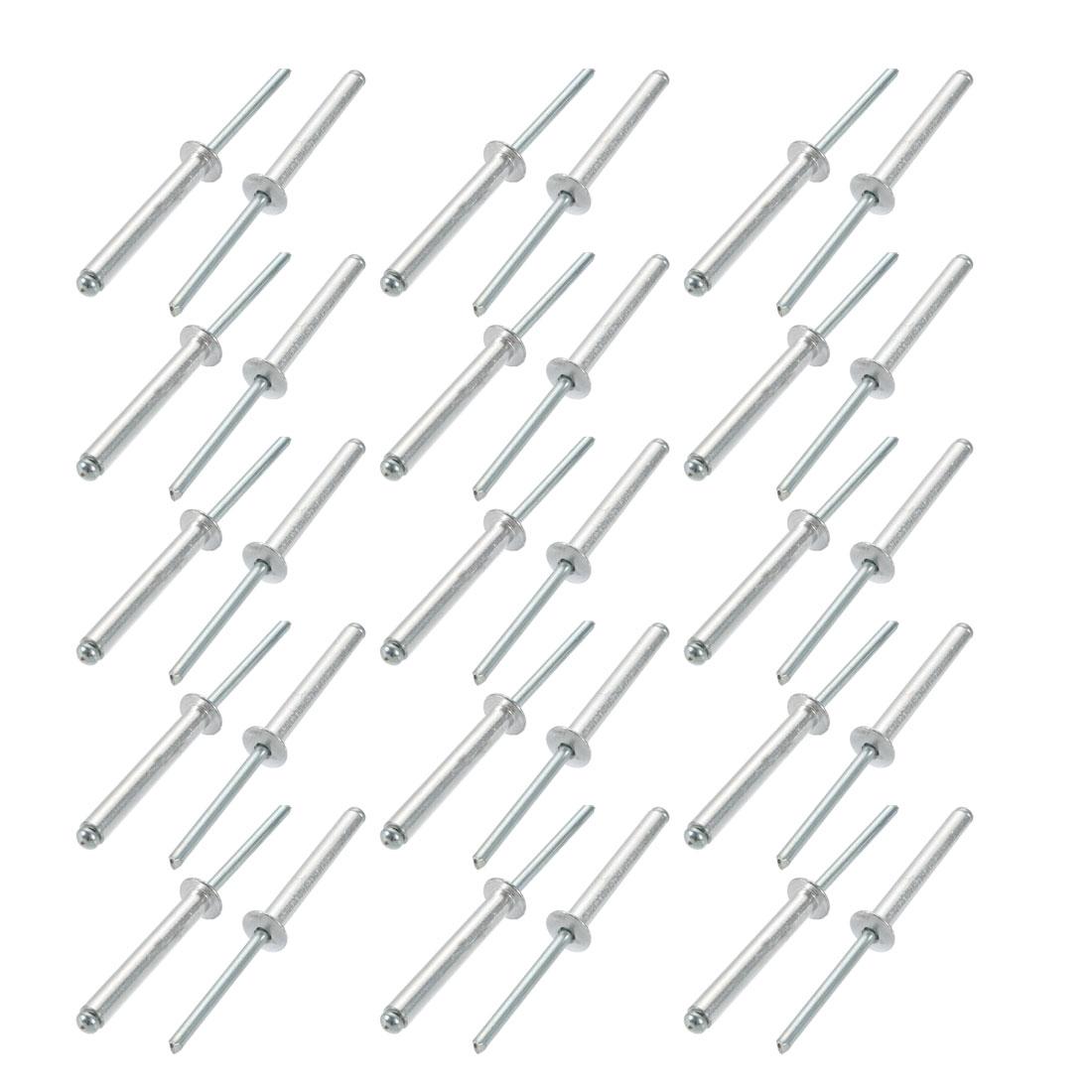 30 Pcs 5mm x 35mm Aluminum/Steel Open End Blind Rivets
