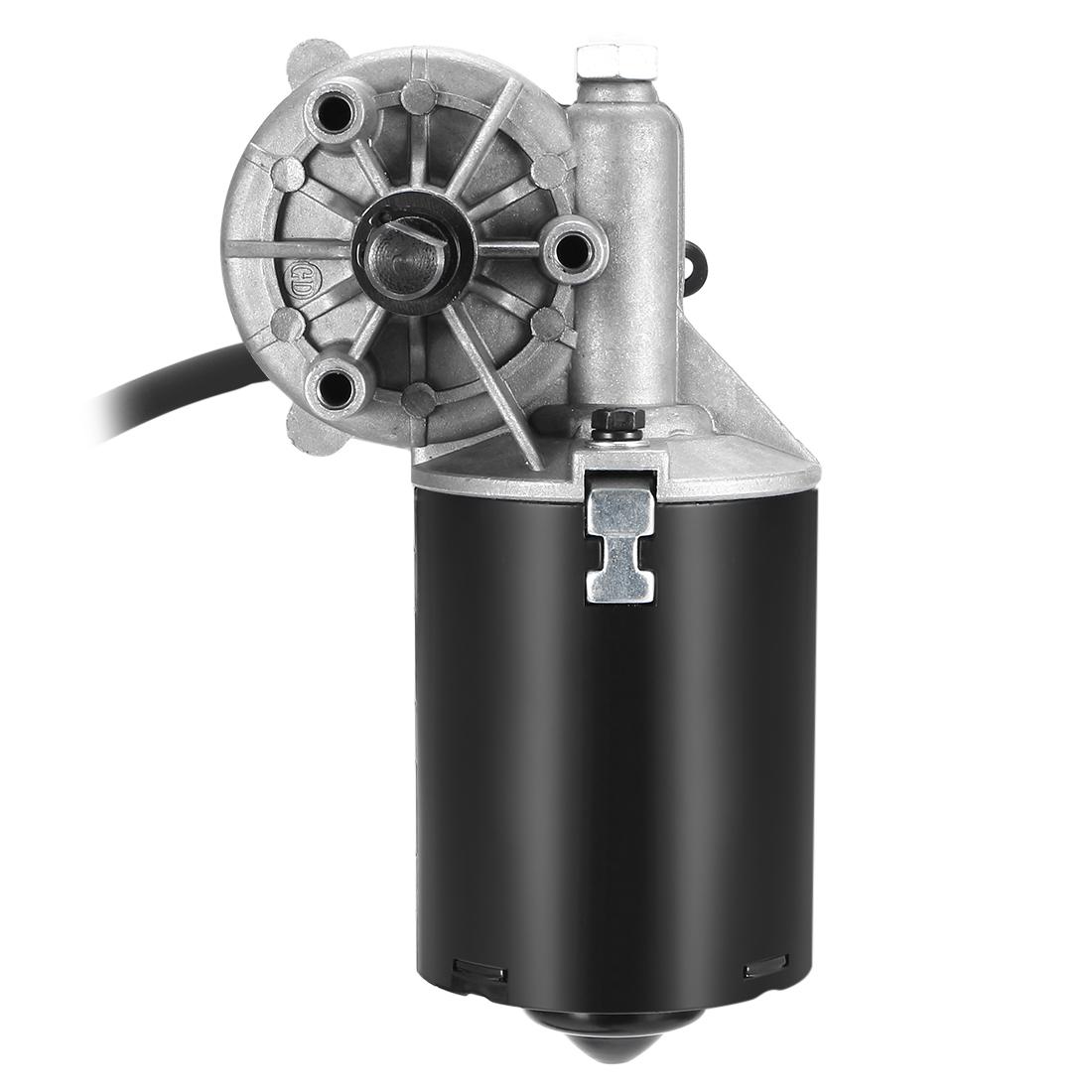 12mm Left D Shaft 12V DC Reversible Electric Gear Motor 42 RPM