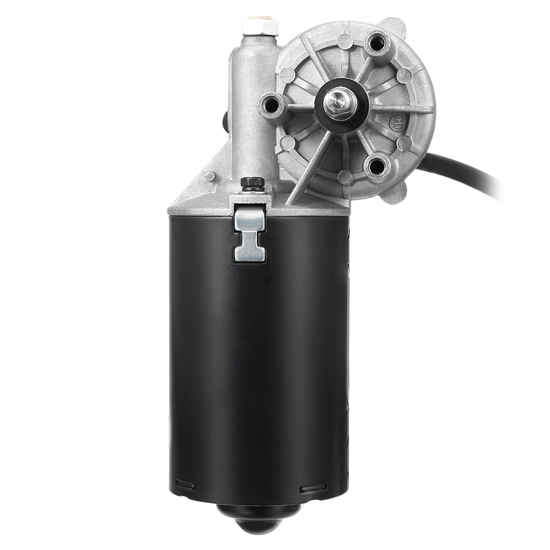 8mm Right 2-flat Shaft 24V DC Reversible Electric Gear Motor 50 RPM