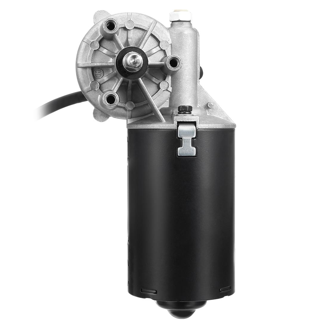 8mm Left 2-flat Shaft 24V DC Reversible Electric Gear Motor 52 RPM