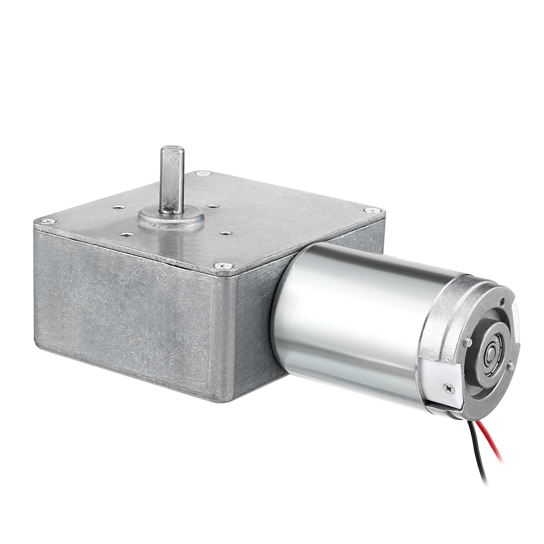 DC12V 2A 30RPM 8mm Shaft High Torque Reversible Turbine Worm GearMotor Reduction