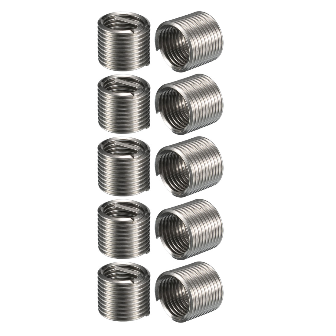 10Pcs M16 Inner Thread 24mm Installed Length Stainless Steel Helical Coil Insert