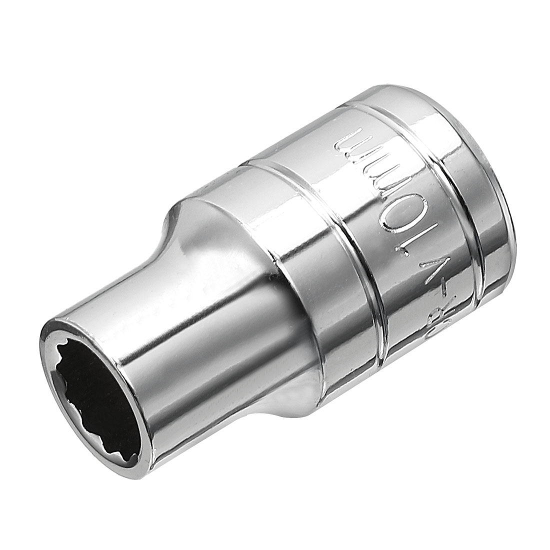 1/2-inch Drive 10mm 12-Point Shallow Socket, Cr-V Steel