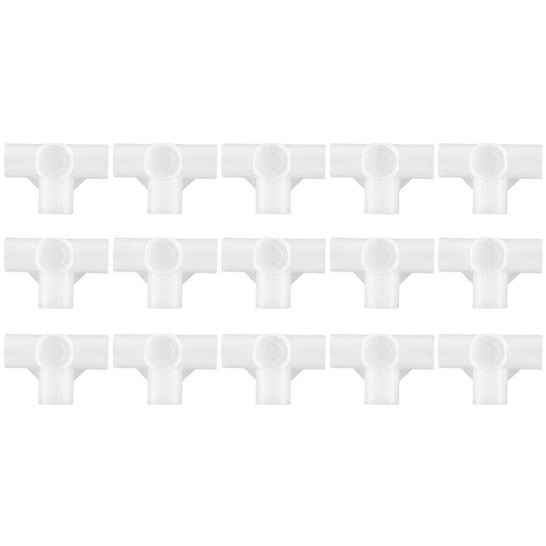 Shoe Rack Connector Parts, 16mm Inner Diameter for Repair Wardrobe 4 Way 15 Pcs