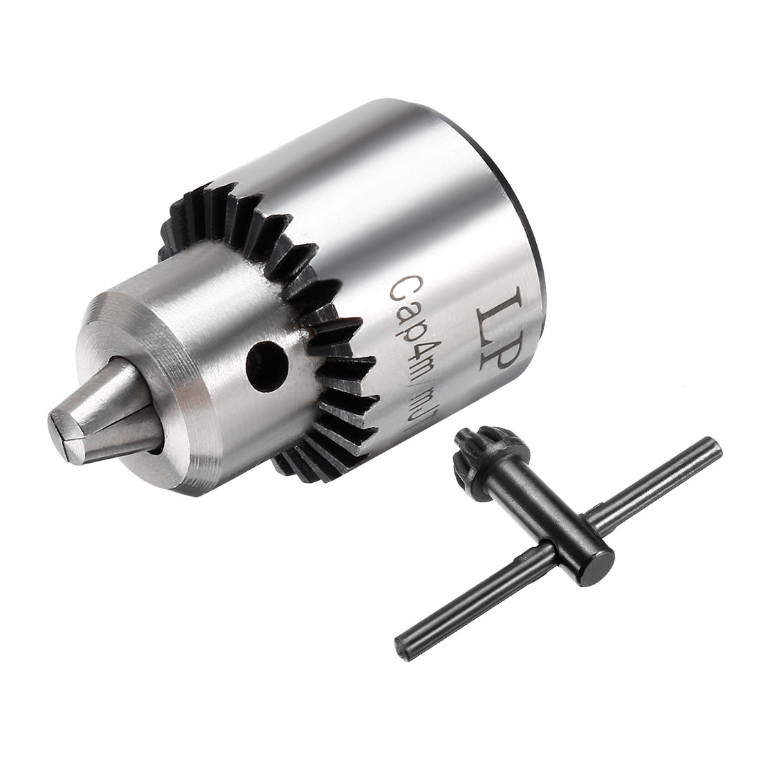 JT0 Mounted 0.3-4mm Capacity Keyed Spanner Drill Chuck w Key