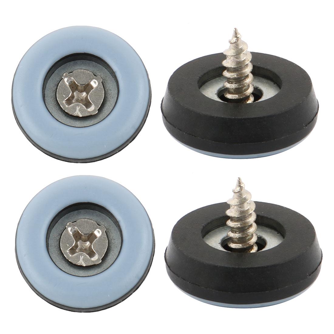 25mm Dia Stable Screw Furniture Mounting Slider for Hard Floor s 4 Pcs
