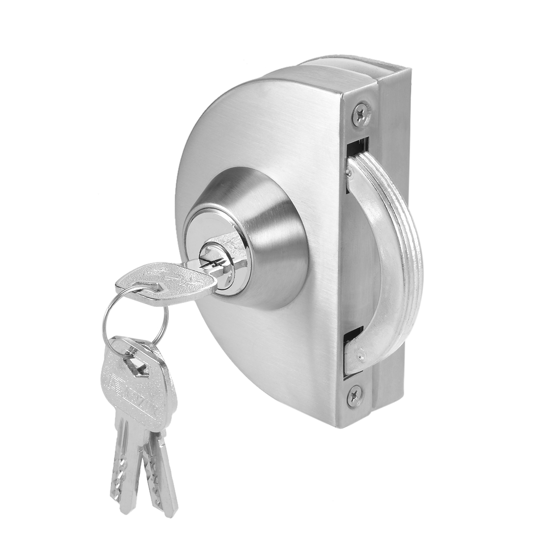 10mm-12mm Glass Door Single Latch Lock Stainless Steel Brushed Finish