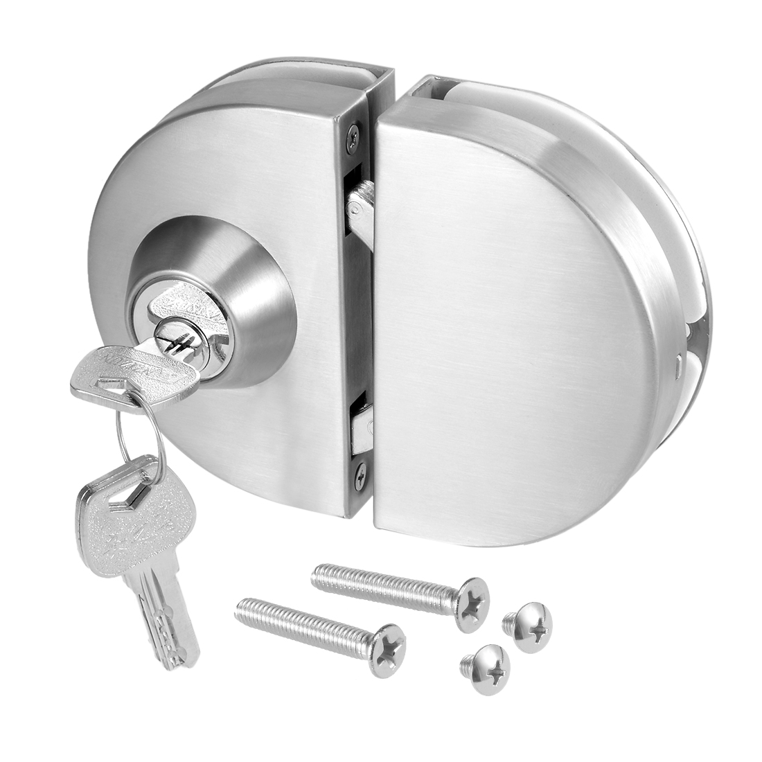 12mm Glass to Glass Door Latch Lock Stainless Steel Brushed Finish