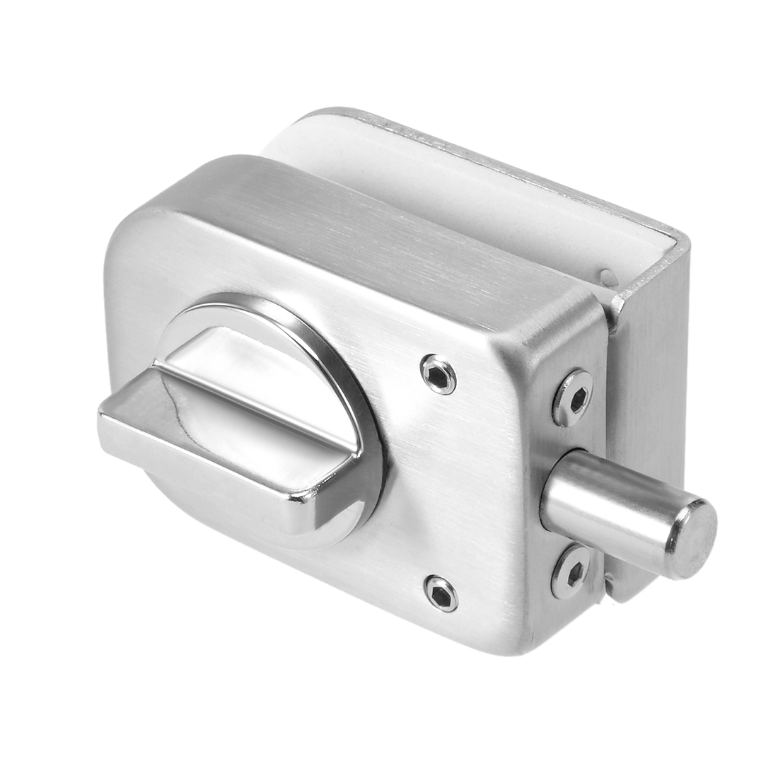 10mm-12mm Glass Door Latch Lock Stainless Steel Brushed Finish