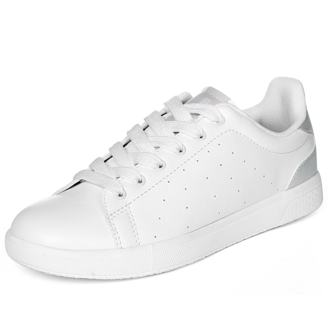 PYPE Women Round Toe Low Top Lace Up Sneakers White US 5
