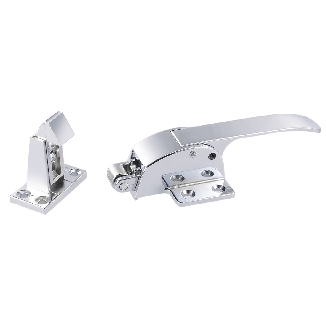 165mmx69mm Zinc Alloy Adjustable Latch Spring Loaded Freezer Door Grip Handle