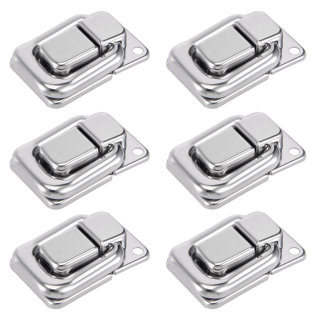6pcs 38mmx26mm Iron Chrome Finished Toolbox Cabinet Toggle Hasp Catch