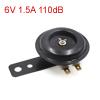 6V 1.5A 110dB Metal Electric Loud Horn Speaker Trumpet Black for Motorcycle