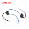 2pcs H4 Bulb 3 Wire Car Headlamp Fog Light Wired Harness Socket Connector