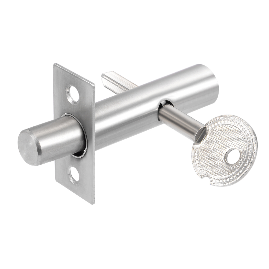 13mm Dia Cylinder Core Stainless Steel Hidden Tubewell Key Mortise Lock Silver