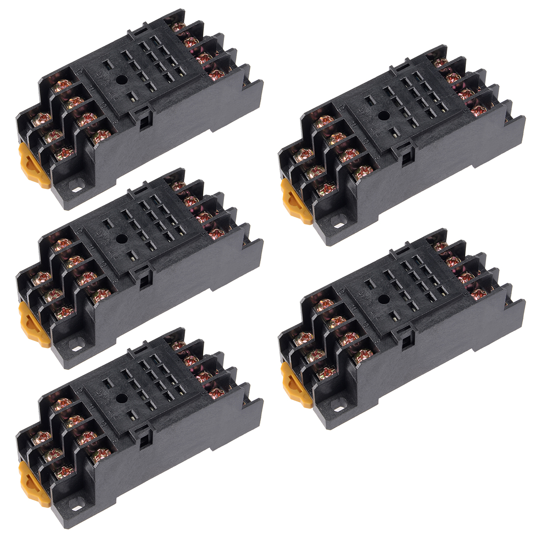5pcs 14 Terminals Rail Mounted Power Relay Socket Base PYF-14A for H3Y-4