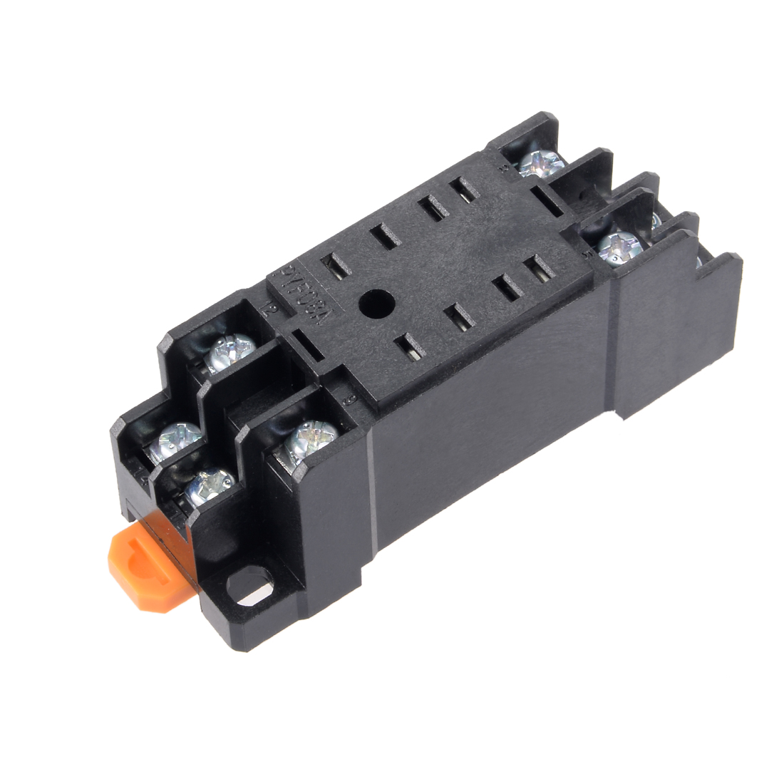 8 Terminals Rail Mounted Power Relay Socket Base PYF08A for HH52P MY2NJ