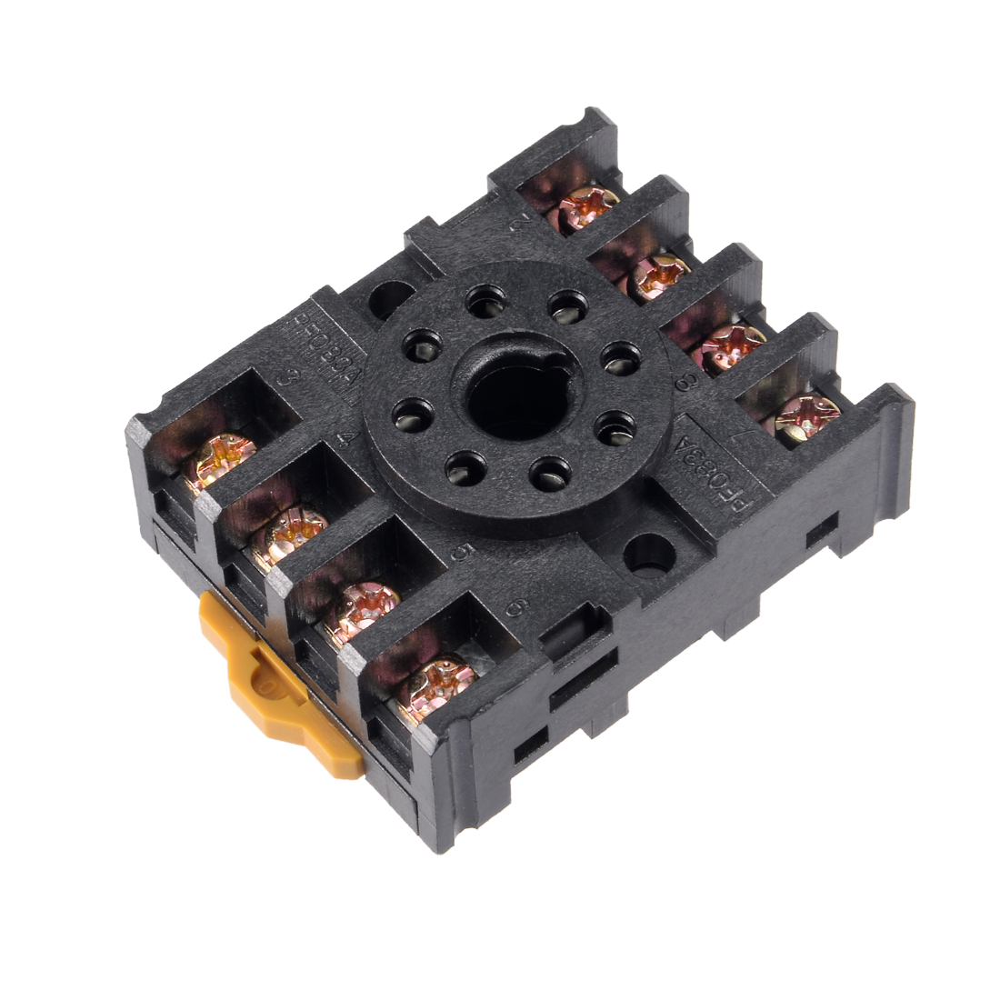 5pcs 8 Terminals Rail Mounted Power Relay Socket Base PF083A for MK2P/JQX-10F/ST3P/DH48S