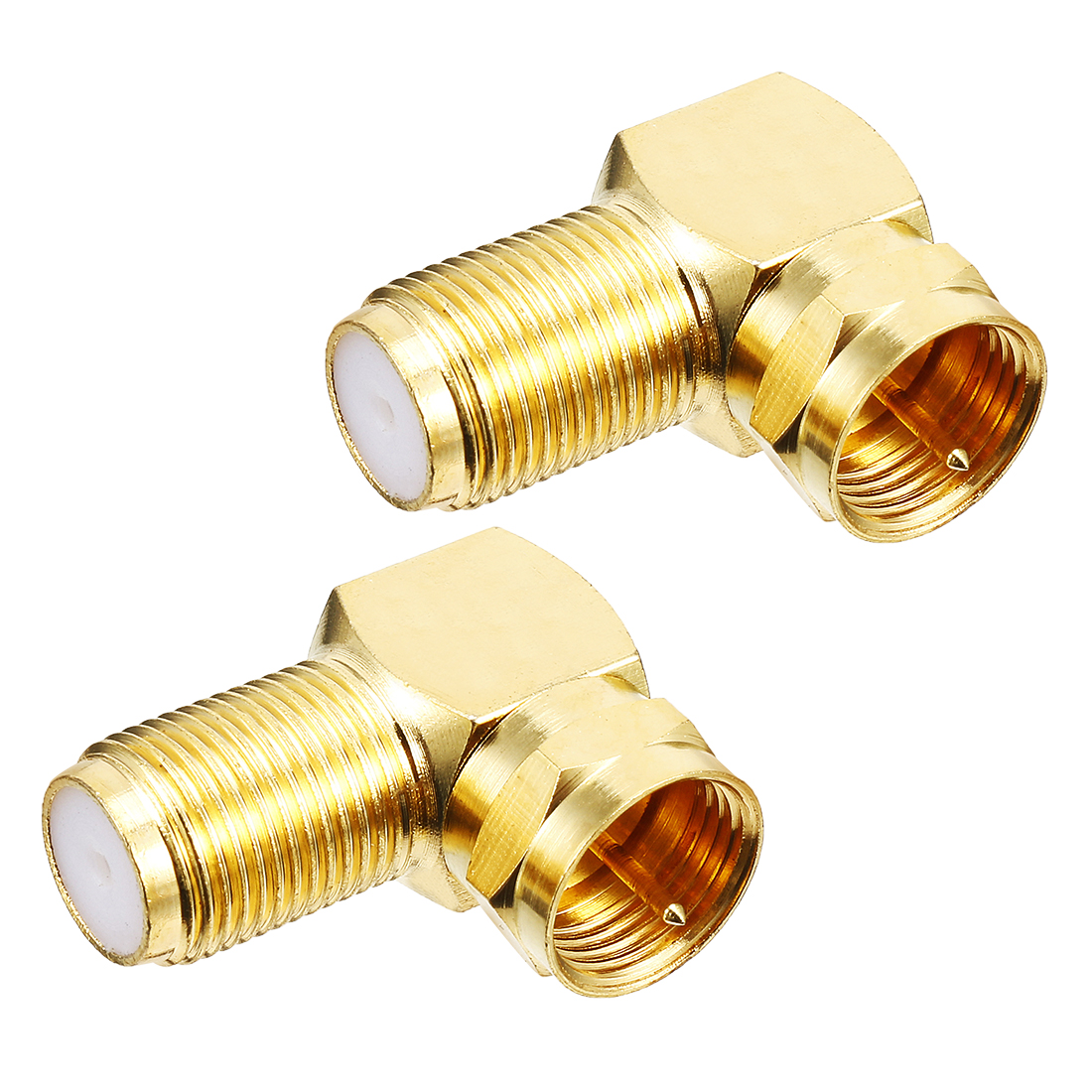 2pcs Right-angle Metric F Male to BSP F Female Jack RF Coaxial Adapter Connector