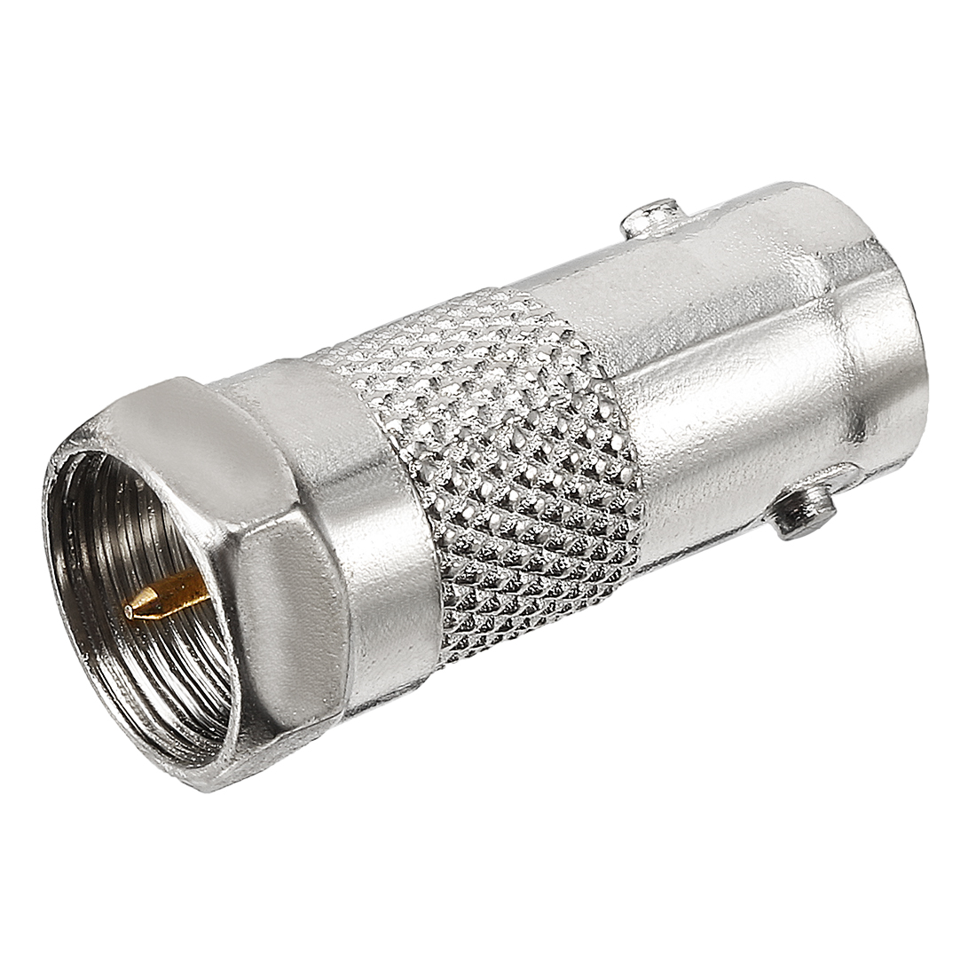 Silver Tone BSP F Male to BNC Female Jack RF Coaxial Adapter Connector Converter
