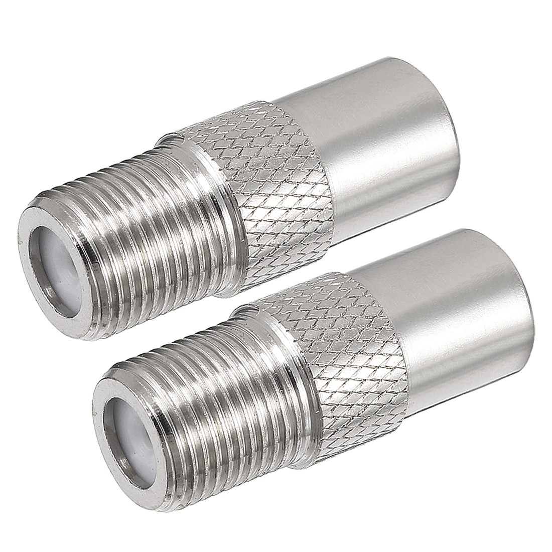 Silver Tone BSP F Female to PAL Male Jack RF Coaxial Connector 2 Pcs