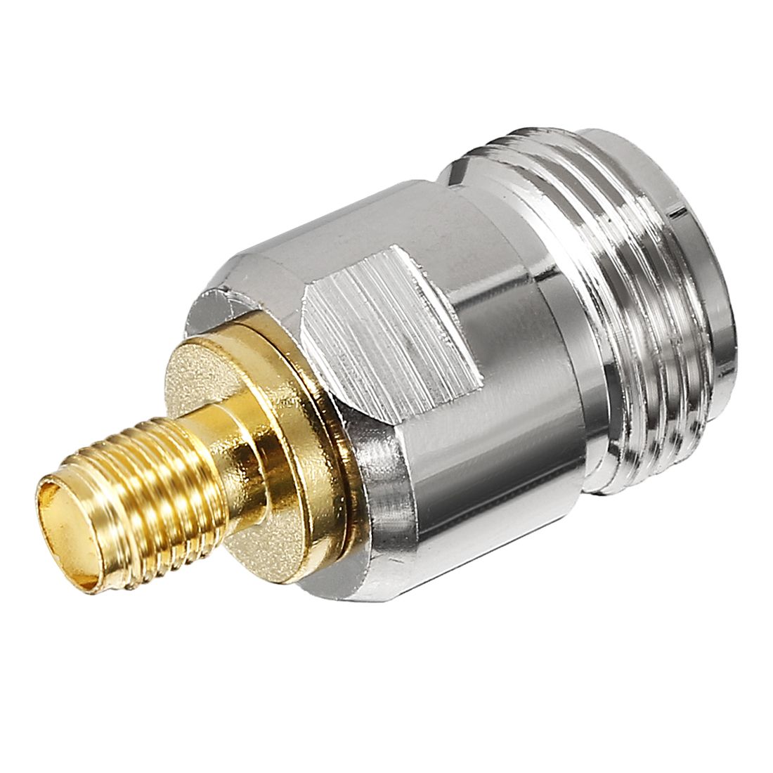 Silver Gold SMA Female to N Female Jack RF Coaxial Adapter Connector