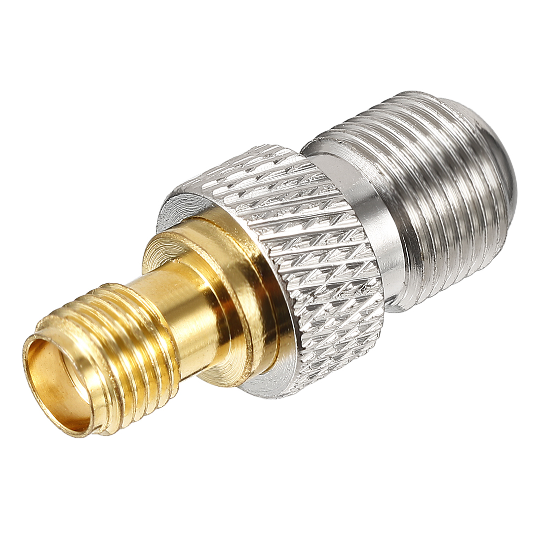 Silver/Gold Tone SMA Female to BSP F Female Jack RF Coaxial Adapter Connector