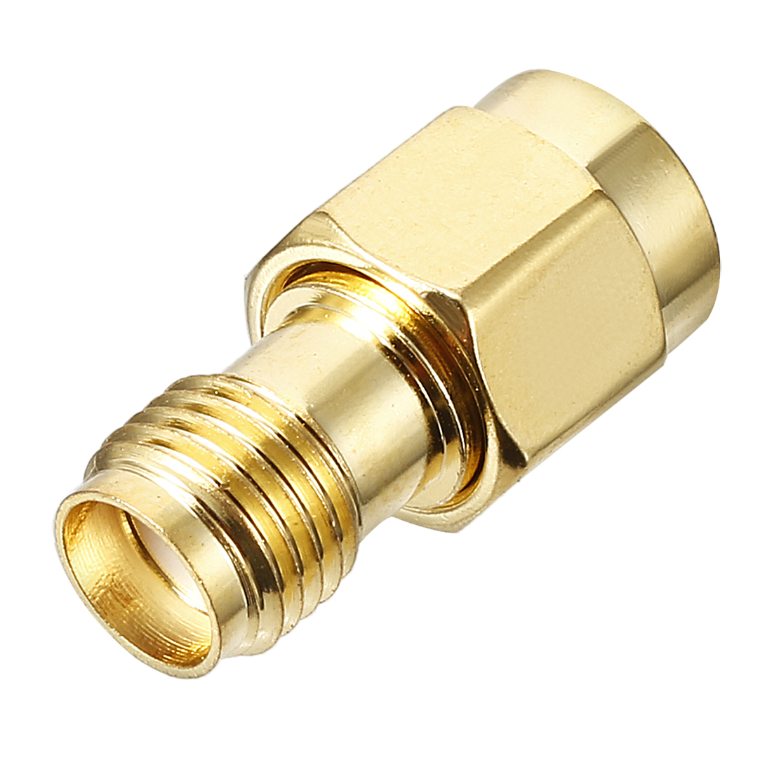 Gold Tone SMA Female for RP-SMA Male Jack RF Coaxial Connector
