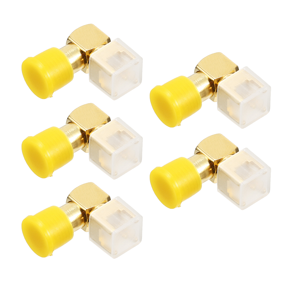 5pcs Gold Tone Right-angle SMA PCB Female Jack RF Coaxial Adapter Connector
