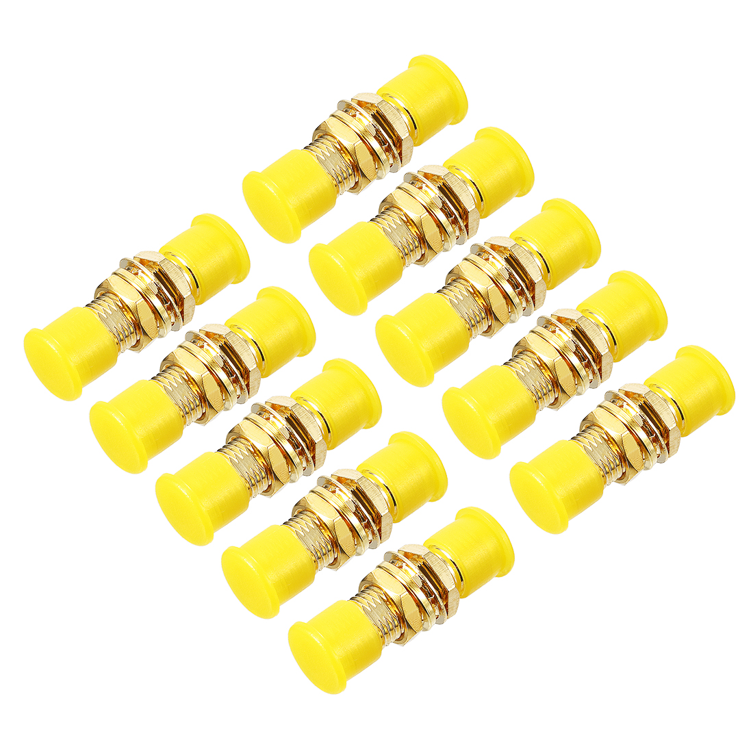 10pcs 23mm Length SMA Female to SMA Female Jack RF Coaxial Adapter Connector