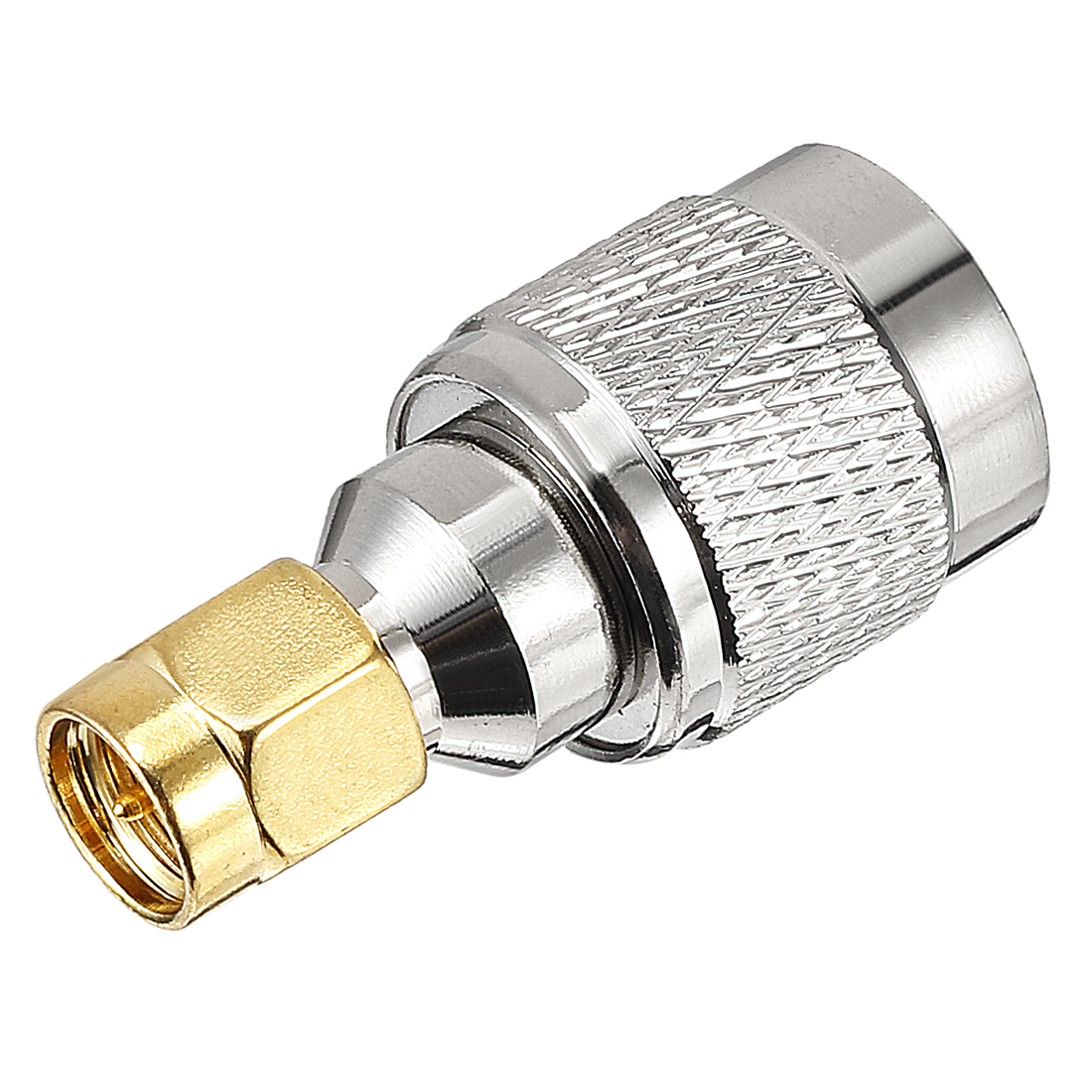Gold-plated Brass SMA Male to TNC Male Jack RF Coaxial Adapter Connector