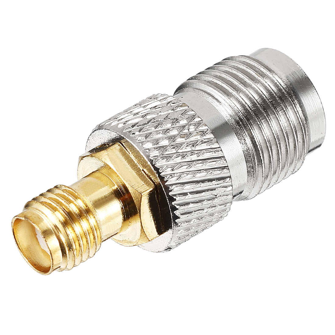Silver Tone SMA Female to TNC Female Jack RF Coaxial Adapter Connector